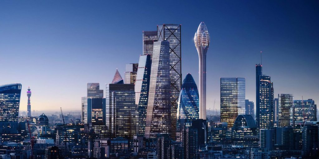 How The City would look with The Tulip. CGI by DBOX for Foster+Partners.